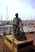 A Statue dedicated to the fisherman of Monterey